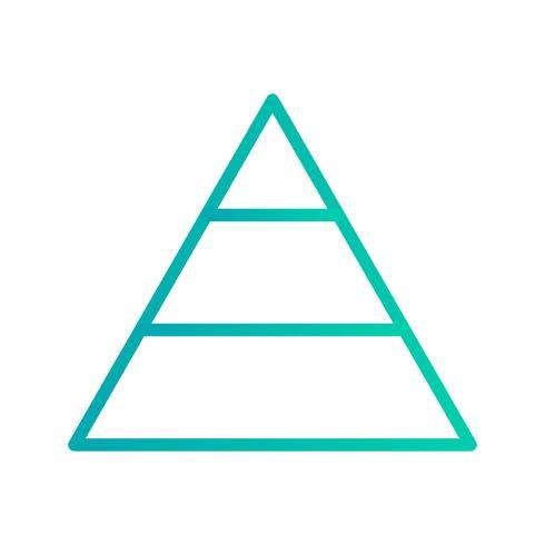 Icône de vecteur de pyramide