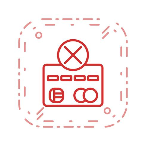 betalingsfout vector pictogram