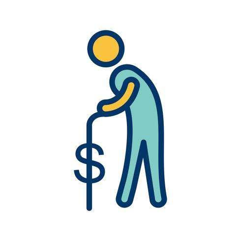 pension vektor ikon