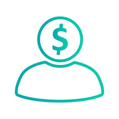 Icono de vector de banquero