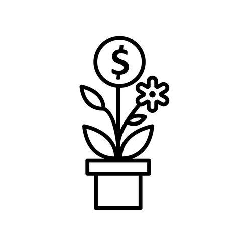 Ícone de vetor de árvore de negócios