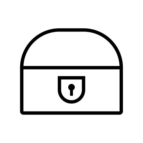 Coin Chest Vector Icon