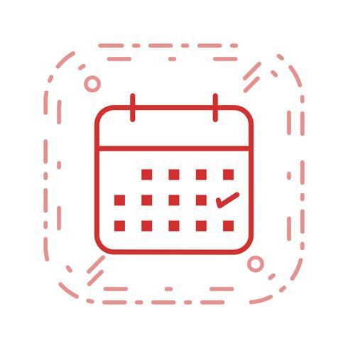 Geschäftskalender-Vektor-Symbol