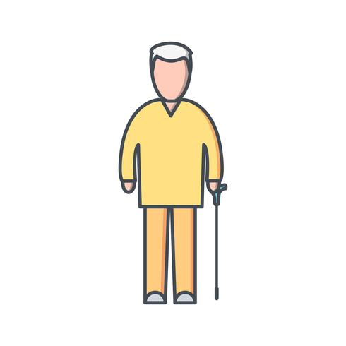 Icona di vettore di pensione