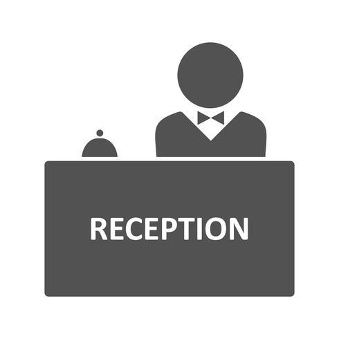 Icono de vector de recepción
