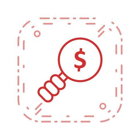 Icono de Vector de búsqueda de dinero