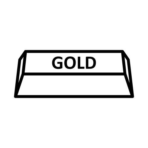 Ícone de vetor de ouro