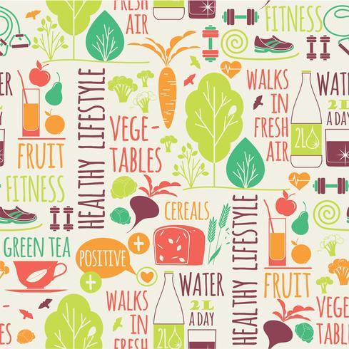 Priorità bassa senza giunte di stile di vita sano vettore