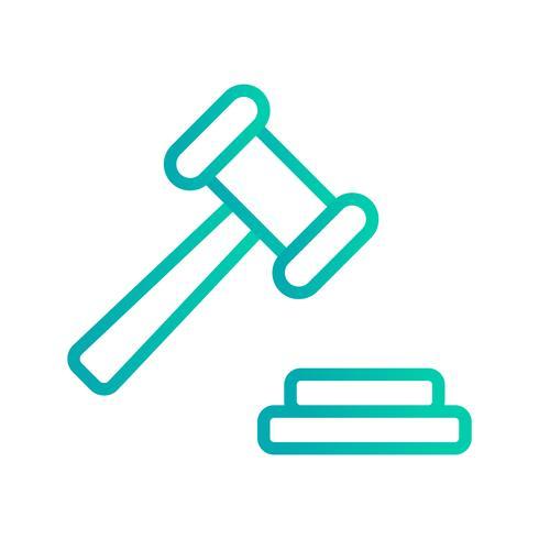 Ícone de vetor de leilão