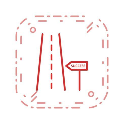 Camino al éxito Vector Icon