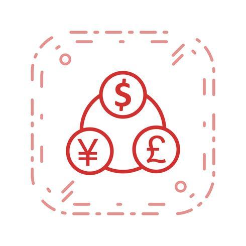 Ícone de vetor de fluxo de dinheiro