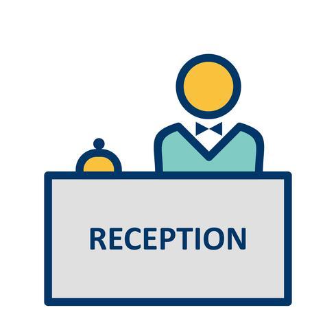 Reception Vector Icon