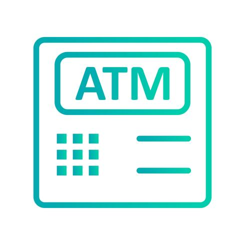 Icona di vettore della macchina di bancomat