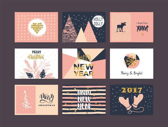 Set di artistico creativo buon Natale e Capodanno