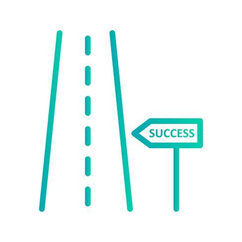 Estrada, para, sucesso, vetorial, ícone vetor