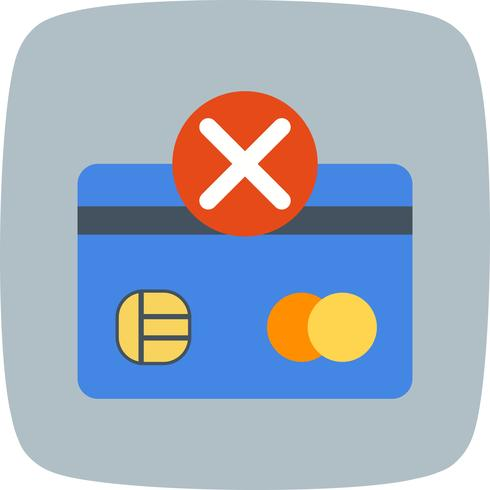 Icona di vettore fallimento pagamento