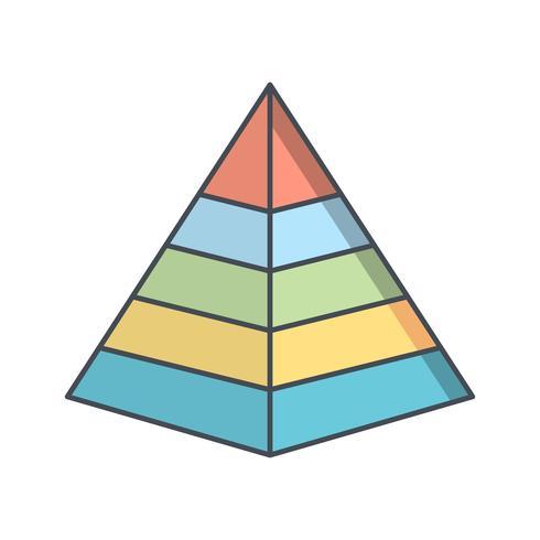 Pyramid Vector Icon