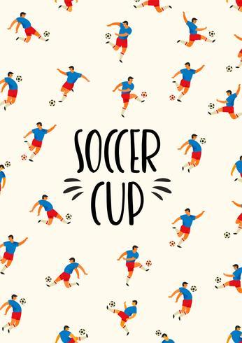 Copa de futbol Plantilla de vectores con los jugadores de fútbol.