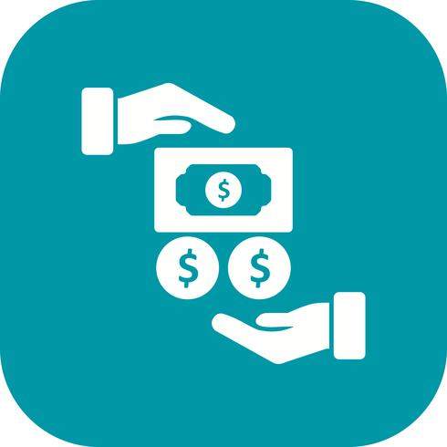 Icono de vector de salario