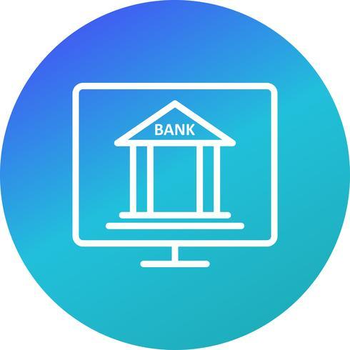 Icono de Vector de banca por Internet