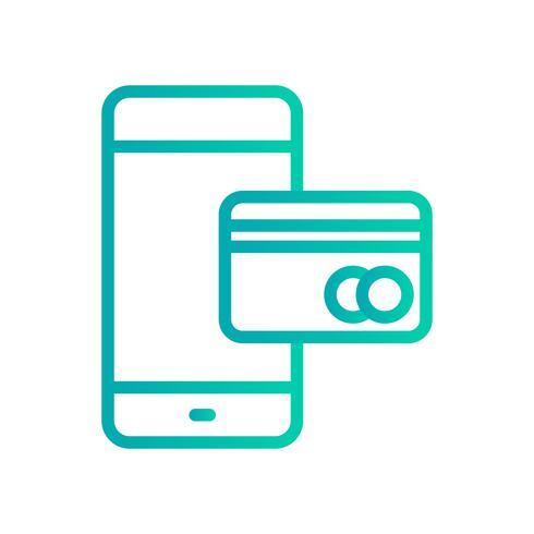 Icona di vettore di attività bancarie mobili