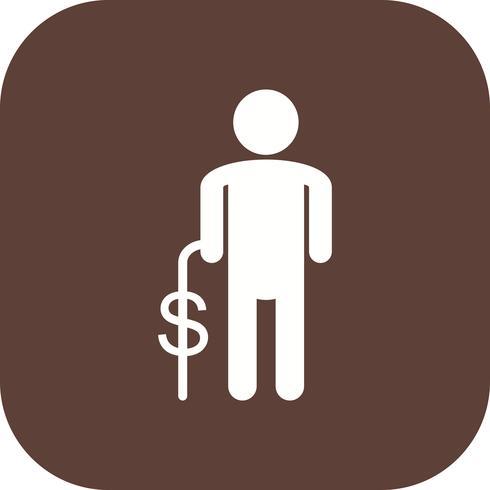 Icono de vector de pensiones