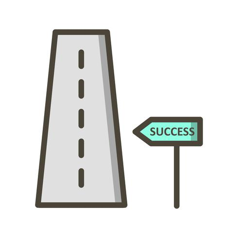 Strada per il successo Icona di vettore