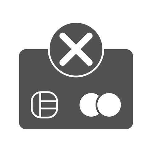 Payment Failure Vector Icon