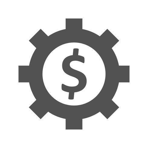 Business cog Vector Icon