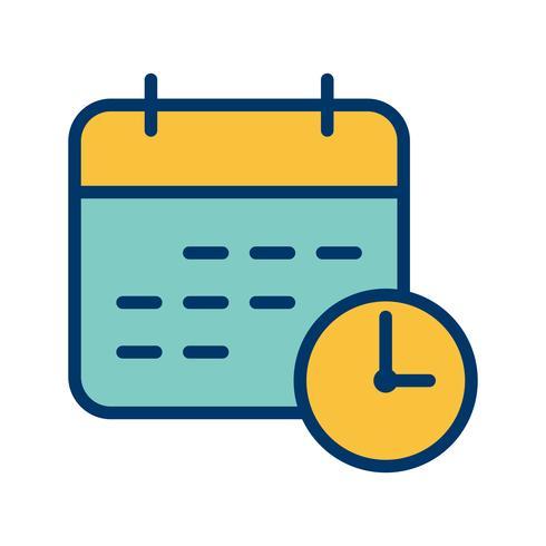 Zakelijke deadline vector pictogram