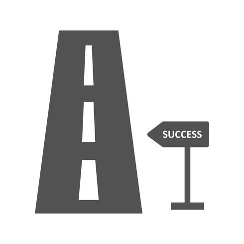 Estrada, para, sucesso, vetorial, ícone