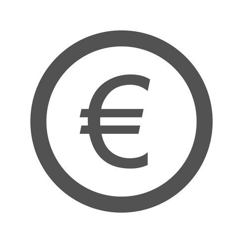 Ícone do vetor de euro