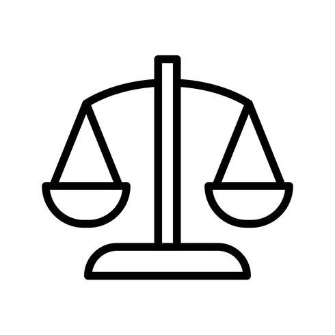 Icona di vettore di equilibrio