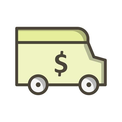 Ícone de vetor de Van de segurança