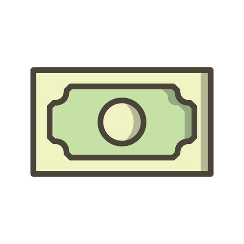 Icona di vettore della banconota