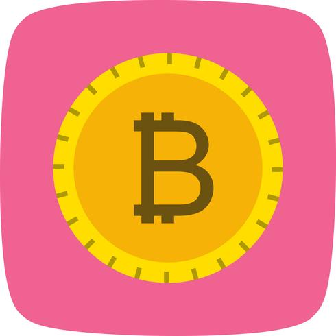 Ícone de vetor de Bitcoin