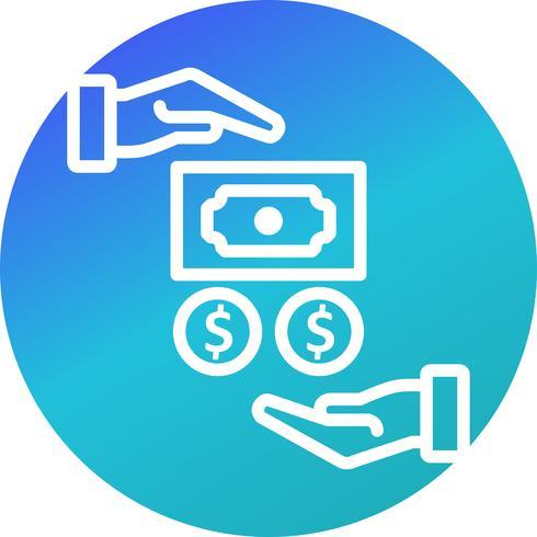 Ícone de vetor de salário