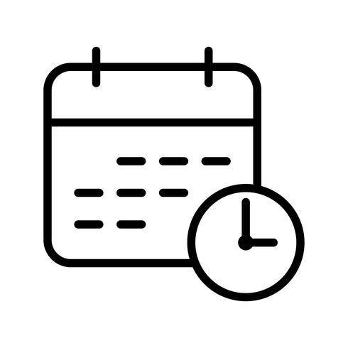 Icône de vecteur de délai d'affaires