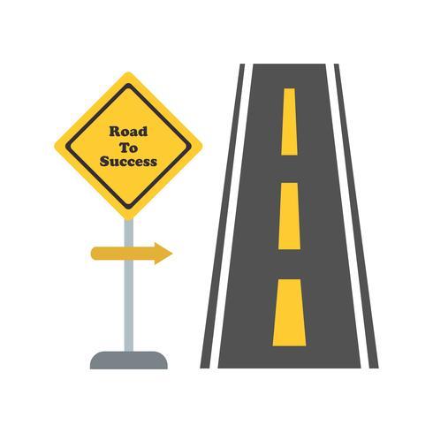 Route du succès Vector Icon