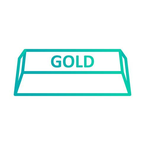 Gouden vector pictogram