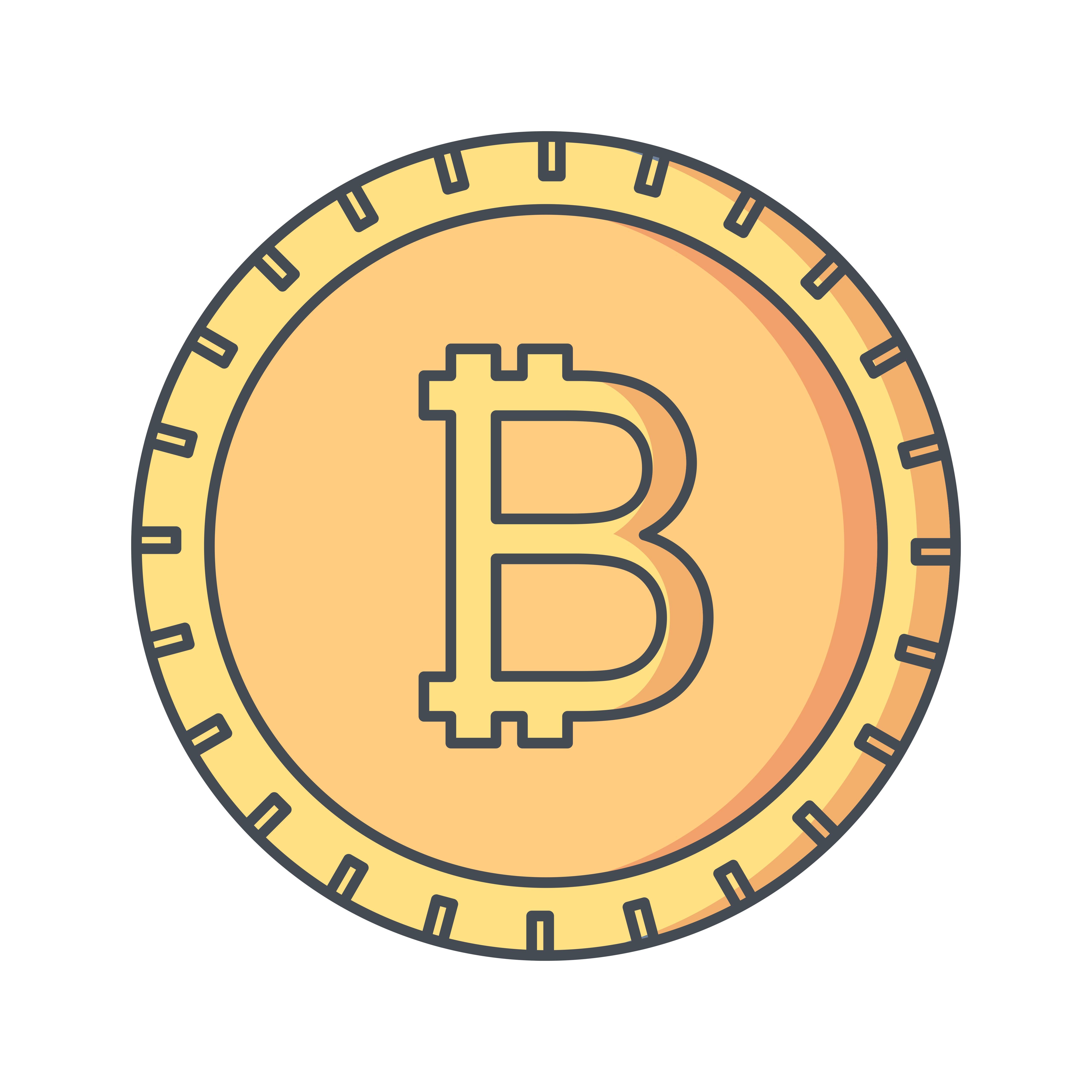 Bitcoin Vector Icon - Download Free Vectors, Clipart ...