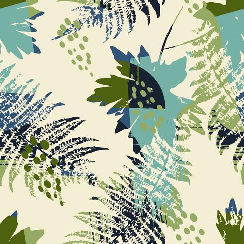Abstrata sem costura padrão com folhas.