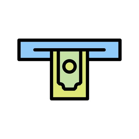 Cash withdrawal Vector Icon