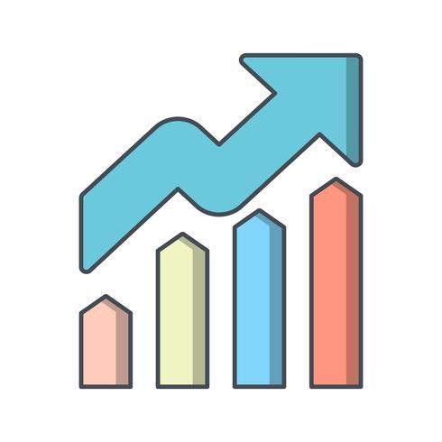 Ícone de vetor de crescimento