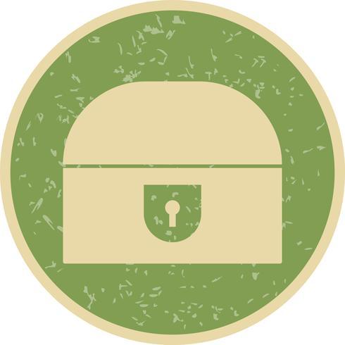 Ícone de vetor de peito de moeda