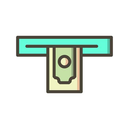 Ícone de vetor de retirada de dinheiro