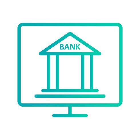Internet Banking Vektor Ikon