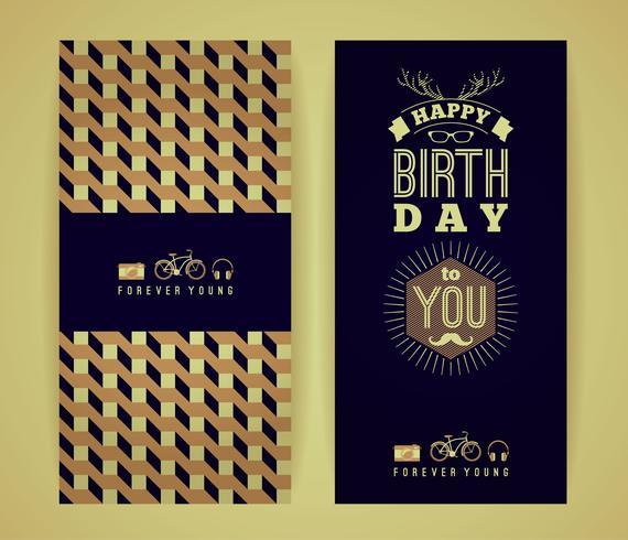 Gefeliciteerd met je verjaardag, vintage retro achtergrond met ge