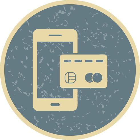 Mobiel bankwezen Vectorpictogram vector