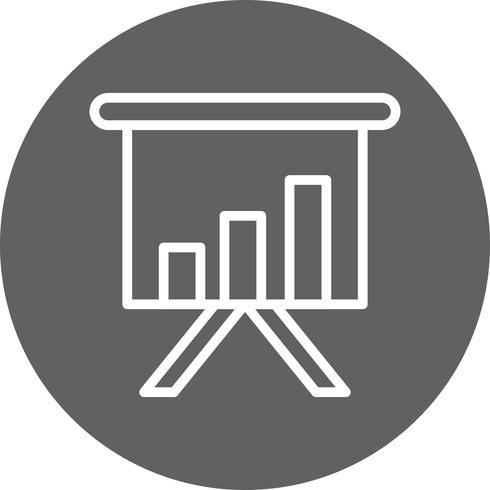 Ícone de vetor de apresentação de negócios